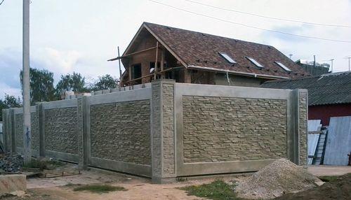 Форма для бетонного забора