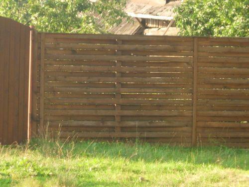 Красивый плетеный забор
