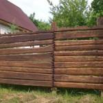 Как построить забор из горбыля: подробная инструкция