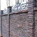 Строительство забор из искусственного камня