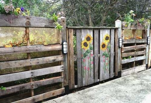 Забор в сад
