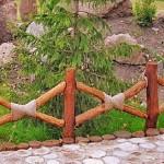 Декоративные заборы для сада: фото идеи