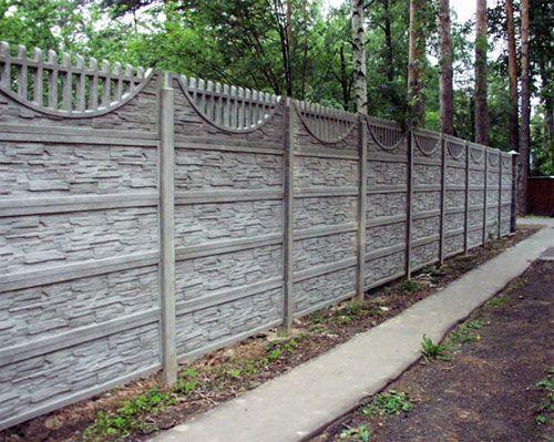 Выбираем забор из бетона