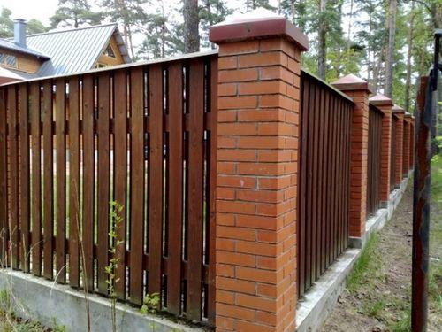 Выбираем комбинированный забор