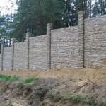 Наборные бетонные заборы: как за каменной крепостью