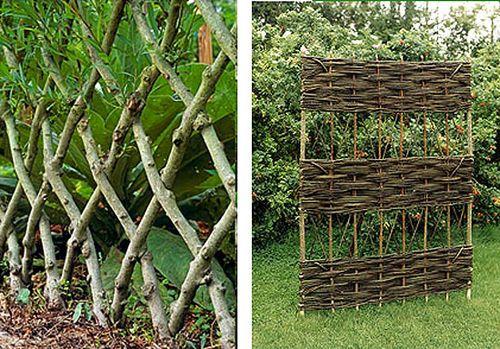 Декоративный садовый забор