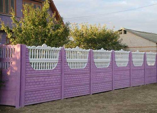 Цветной забор