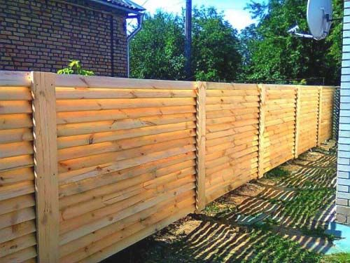 Забор лесенка своими руками
