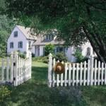 Какими бывают низкие заборы для дачи и огорода