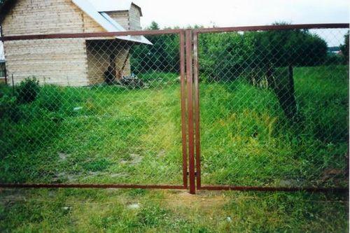 Строим сетчатый забор